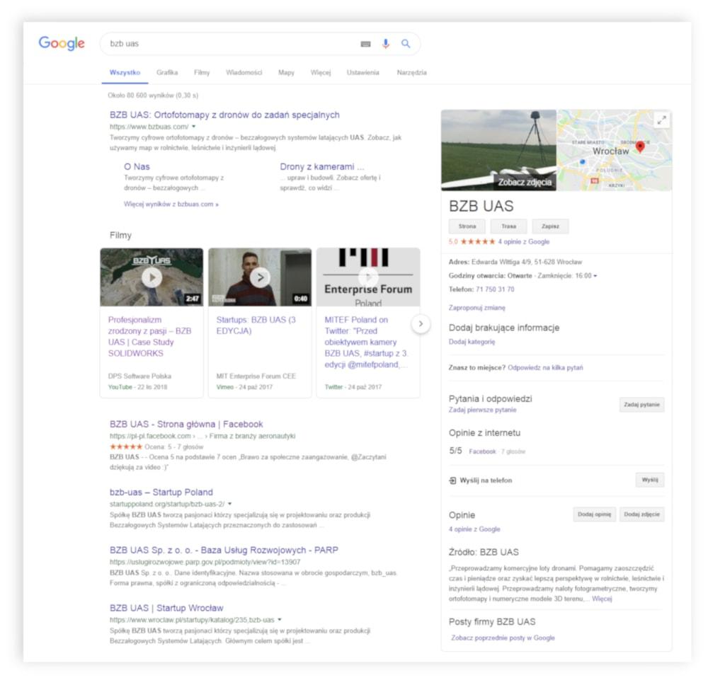 BZBUAS projekt google