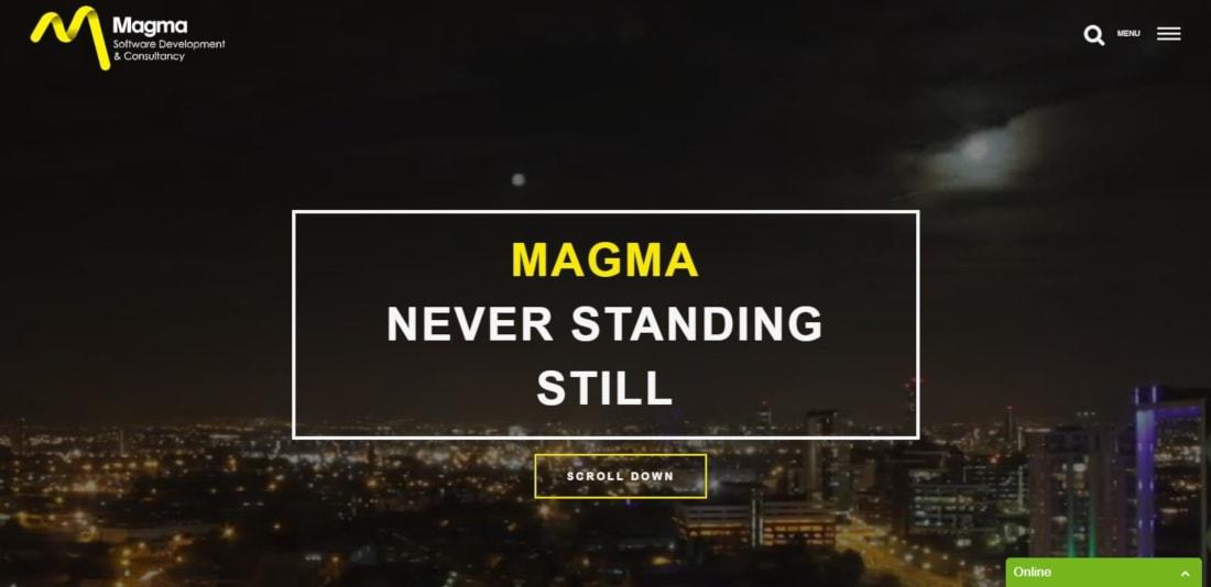 Magma website
