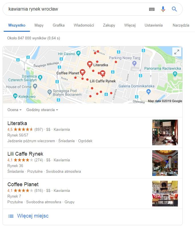 Pozycjonowanie stron Google My Business