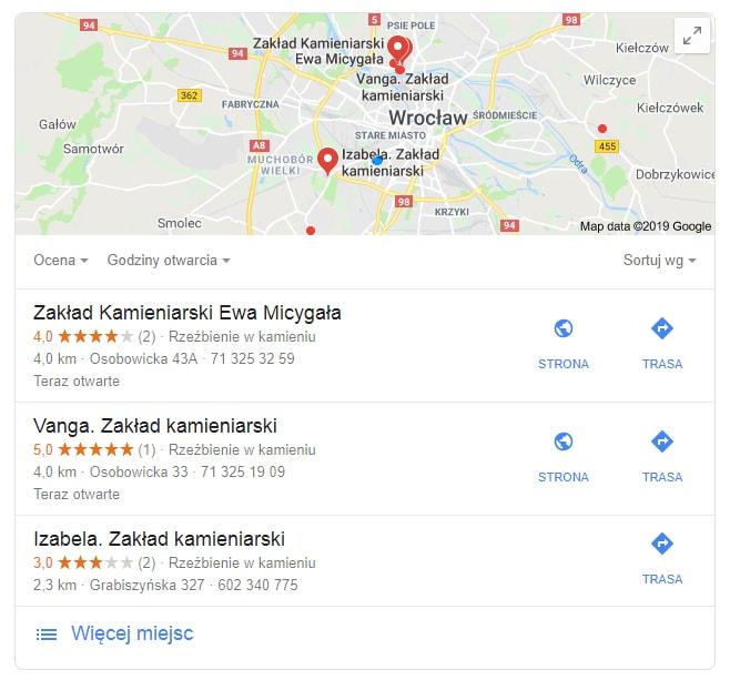 Pozycjonowanie Google Moja Firma oceny