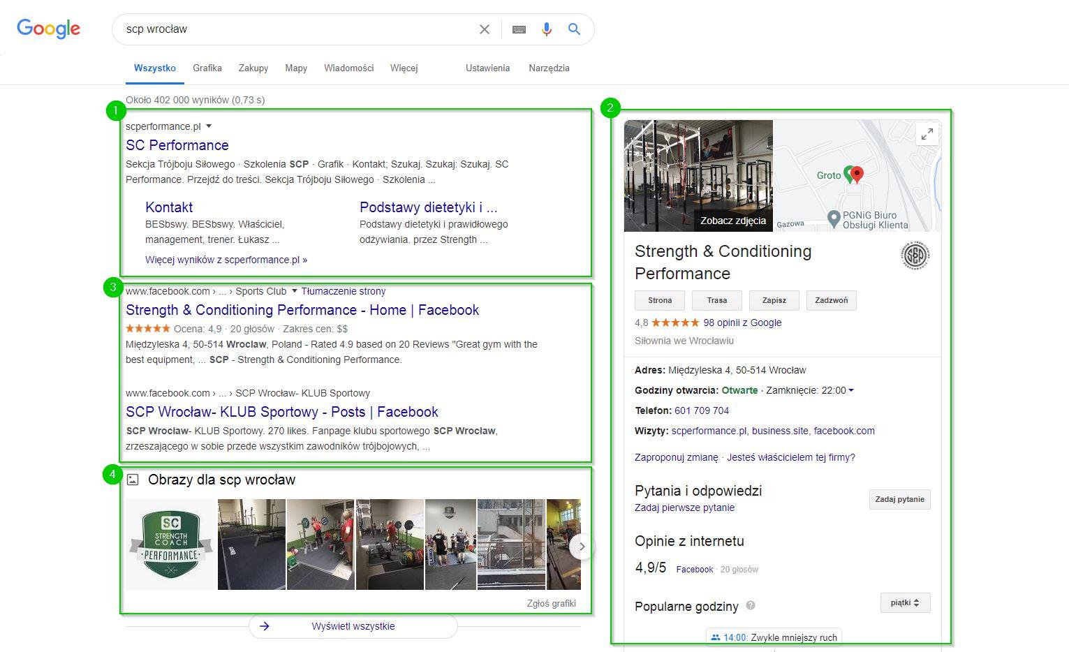 Kampania brandowa - wyniki wyszukiwania